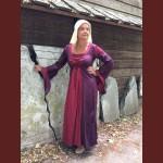 Tvåfärgad klänning