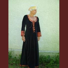 Sammets klänning adel