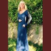Renässansklänning med snörning